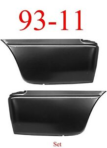 93 11 Lower Rear Bed Patch Set Ford Ranger 2 Door Extended Cab Both Left & Right
