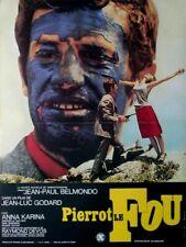 belmondo PIERROT LE FOU Jean-Luc Godard  affiche cinema