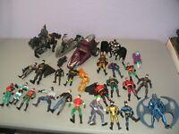 DC Figure Lot of 24 + Vintage Batman Robin Joker Catwoman 1990's Dark Rider ++