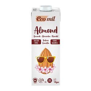 Almond drink with vanilla flavour sugar-free BIO 1 l Ecomil