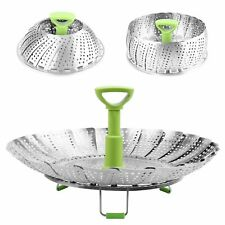 """Stainless Steel Steamer Basket for Vegetable/Insert for Pots, Pans, 9"""" Medium"""