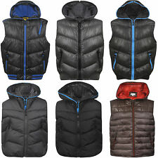 KIDS BODY WARMER QUILTED HEAVY PADDED LINED GILET SLEEVELESS JACKET COAT SIZE