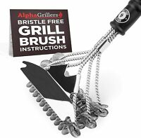 Grill Brush Cleaner and BBQ Steel Grill Scrubber 2 Pack Easy Clean