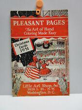 Vintage - PLEASANT PAGES Booklet - Little Art Shop, Inc. Washington, DC - 1931