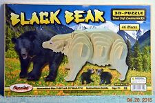 Black Bear 3D Puzzle Wood Craft Construction Kit 46 Pieces by Puzzled