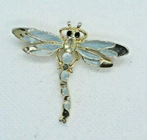 Vintage Enamel Dragonfly Pin Brooch