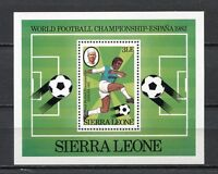 27621A) Sierra Leone 1982 MNH New W Cup Soccer S/S