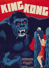 Vintage 1933 King Kong Movie Poster A2 impresión