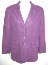 Ann Freedberg Designer Silk Blend Boucle Purple Plum Classic Jacket Sz 4 Lined