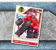 Topps NHL Skate Trader Throwback Chicago's Corey Crawford Digital Insert 1985-86