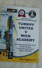 TURRIFF UNITED V WICK ACADEMY 5/10/2013 SCOTTISH CUP