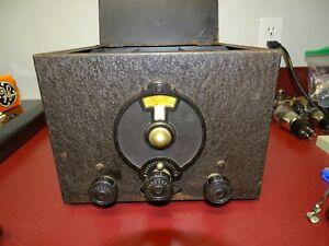 National SW-3 Amateur Radio Receiver, Vintage, Version 1, w/ Extra Coil Sets