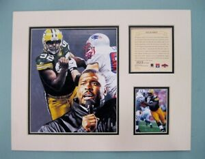 Green Bay Packers Reggie White 1997 Football 11x14 MATTED Kelly Russell Print