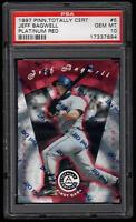 1997 JEFF BAGWELL TOTALLY CERTIFIED PLATINUM RED #5   PSA 10  POP 1/6