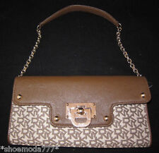 DKNY T&C W/D Hardware Bag Purse Clutch Wristlet Sac New