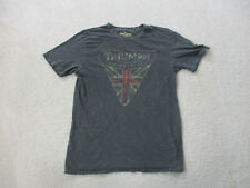 Lucky Brand Shirt Adult Small Gray Red Triumph Motorcycle Biker Rider Mens