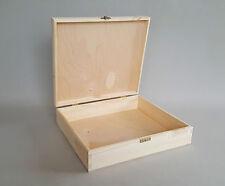 Large Storage Plain Wood Box Jewellery Wooden Chest Decoupage Craft Boxes Depot