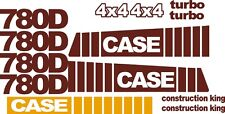 Reproduction CASE 780D Loader backhoe replacement decal kit