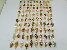 1000 GRAM 18K GOLD PLATED ARROWHEAD DRUZY PENDANTS ALLOY 100 PCS OVERLAY LOT