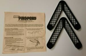 Vtg 1982 NERF Indoor Ping Pong Instruction Sheet & Net Support Replacement Parts
