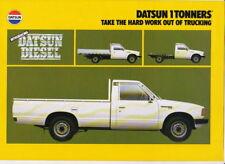 1980 DATSUN ONE TONNE UTE & CAB CHASSIS Australian 4p Brochure 1 TONNER