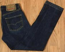 "DIESEL INDUSTRY MODERN BASIC Sz 30 BUTTON FLY BLUE JEANS measures 27"" X 28"""