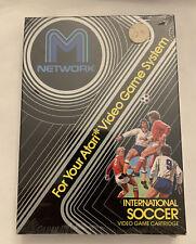 M NETWORK ATARI  INTERNATIONAL SOCCER Video Game New Cartridge