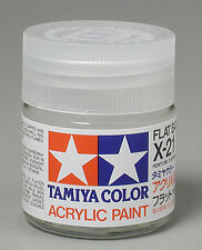 Tamiya X21 Flat Base 3/4 oz Large Acrylic Paint Jar 81021 TAM81021