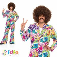 Complete Outfit Fancy Dress Men's Synthetic 1960s Theme