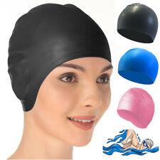 Swimming Cap Waterproof Silicone Swim Pool Hat For Adult Men Women Long Hair US