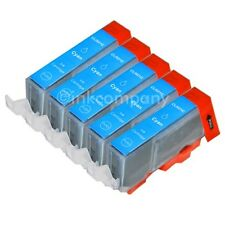 5 Druckerpatronen CANON + Chip CLI-521 cyan MX860 MX870 MX876 IP3600 NEU