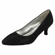 Ladies Anne Michelle Court Shoes Label F9811 Black 6 UK Standard