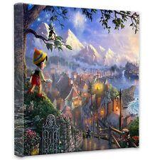 """(New) Thomas Kinkade Disney Dreams Collection """"Pinocchio"""" 14 x 14 Wrap"""