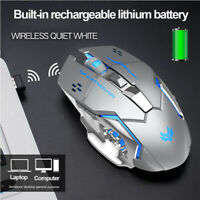 T2 Gaming Mouse Rechargeable Wireless Silent LED Backlit USB Optical Ergonomic