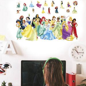 Large PRINCESS Decal WALL STICKER Vinyl Mural Kids Girls Room Decor UK