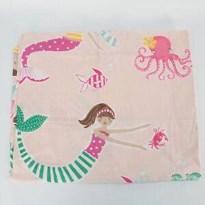 One Pottery Barn Kids Organic MERMAID Standard Sham For Duvet NEW Blush Pink