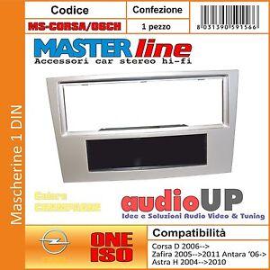 MASCHERINA AUTORADIO 1 DIN OPEL CORSA D DAL 2006 - ADATTATORE COLORE CHAMPAGNE