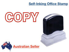 COPY Red Pre-Inked Date Rubber Stamp Office Custom Self Inking Business Ink Stap