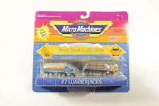 Vintage 1989 Galoob Micro Machines Semi Truck Collections #7 Lumberjacks