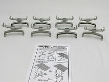 AURORA TOMY AFX SNAP-ON TRACK ELEVATION SUPPORTS ~ 8 SHORT PC ~ VN-EXC COND!