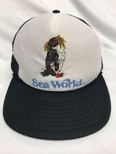 Vintage Sea World Foam Mesh SnapBack Hat Cap Trucker Penguin