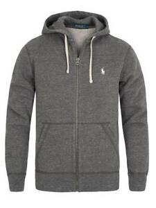 Polo Ralph Lauren Mens Zip Up Grey Hoodie Size Small