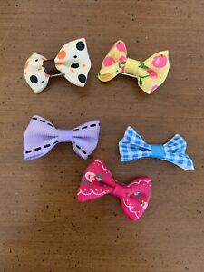 Set of five Bows For Your Dog