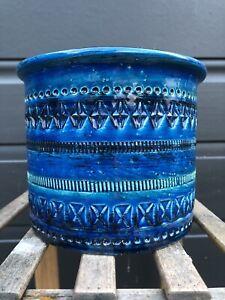 BITOSSI RIMINI BLUE Flower Pot Italian Ceramic Italy Pottery ALDO LONDI 12.5cm H