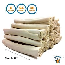 "Rawhide Retriever Roll 9-10"" -100% Natural Beef-Hide Rolls for dogs - 123 Treats"