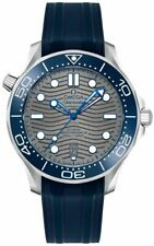 Omega Seamaster Blue Strap Grey Dial 42mm Men's Watch 21032422006001 Brand New