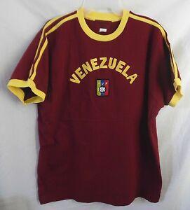 VENEZUELA FVF WINE & GOLD SOCCER SHIRT COTTON XXL