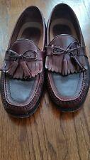 Johnston & Murphy Two Tone Black/Brown Kiltie Tassel Loafers Men Shoes 11.5 M