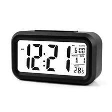 Digital Snooze LED Alarm Clock Backlight Time Calendar Thermometer Temperature R