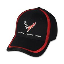 C8 Corvette Black and Red Accent Cotton Hat